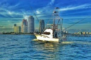Large Fishing Boat Miami Beach