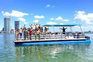 Pontoon Boats for Parties Miami Beach